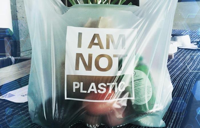 Bolsa de bioplástico