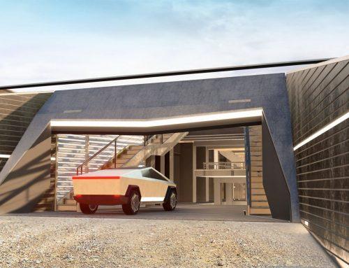 Lo más futurista: una casa con diseño de coche Tesla