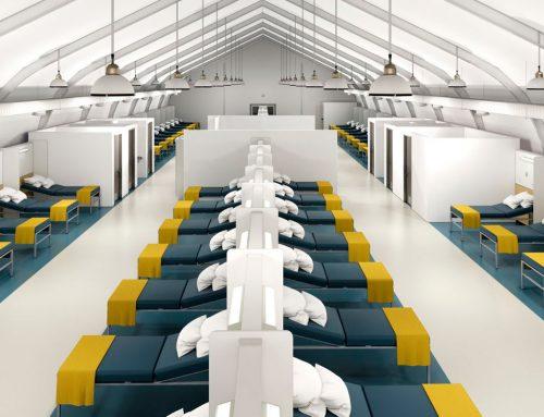 La construcción rápida de hospitales temporales hace frente al Covid-19